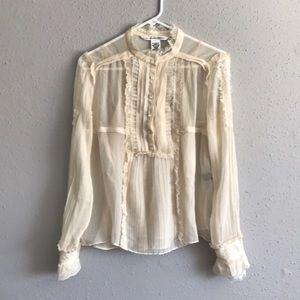 Diane Von Furstenberg cream top